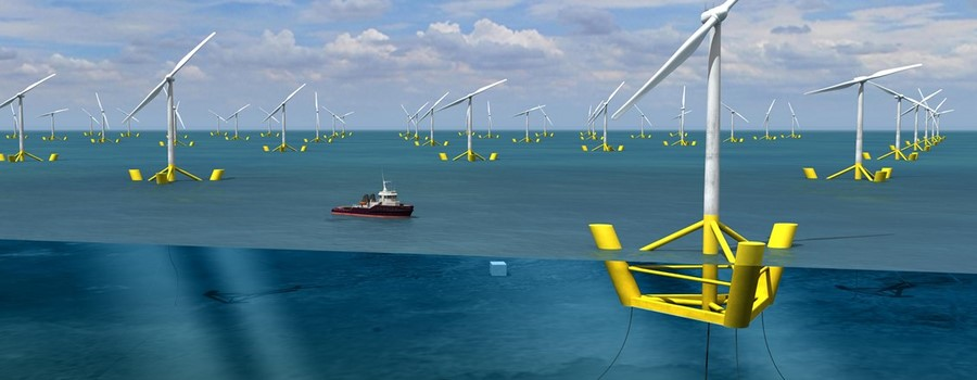 DCNS Floatting Wind Turbine